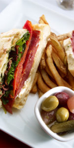 sandwich with fries at Barrington Clubhouse