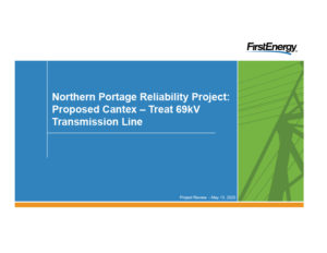 Northern Portage Reliability Project Review Cover page